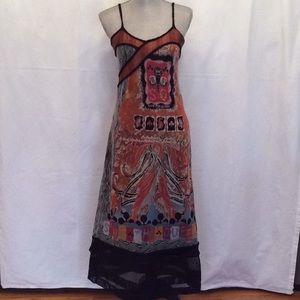 SAVE THE QUEEN Multicolored Maxi Dress